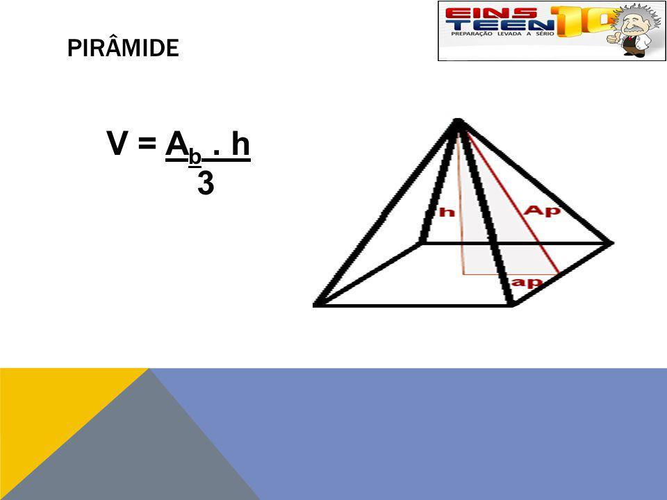 PIRÂMIDE V = Ab . h 3