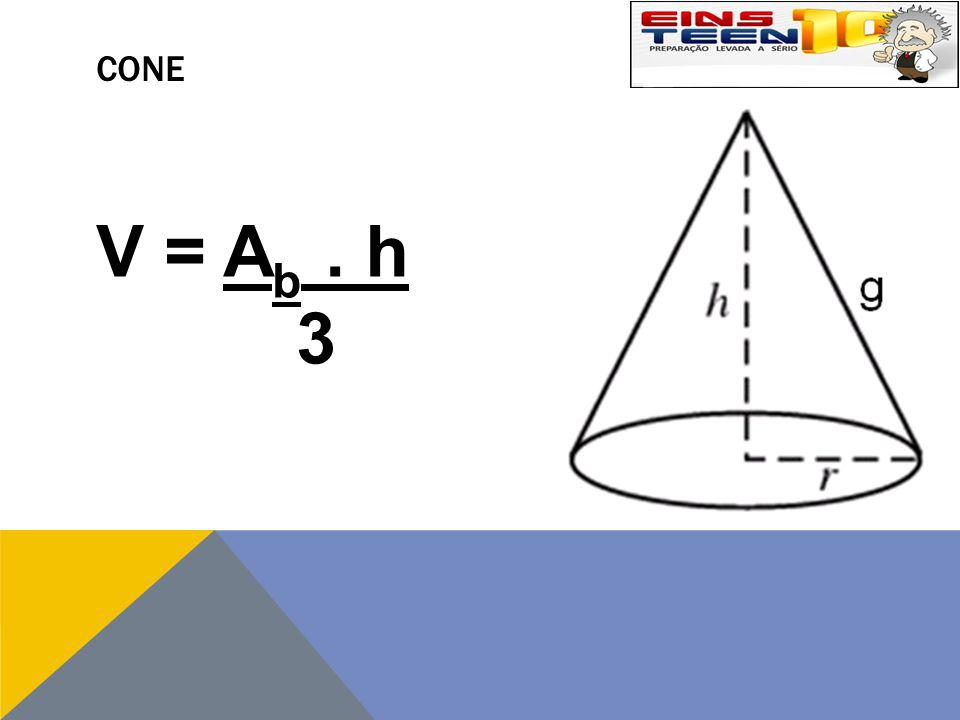 CONE V = Ab . h 3