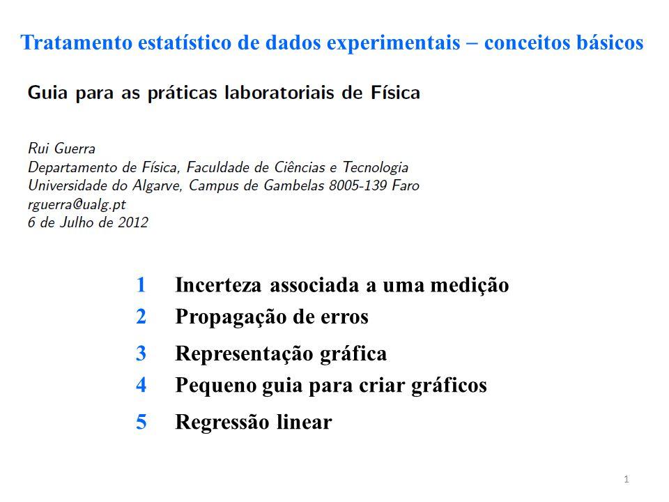 Tratamento estatístico de dados experimentais  conceitos básicos