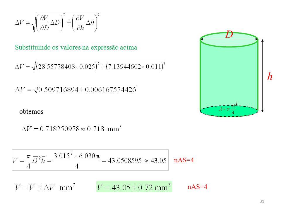 D Substituindo os valores na expressão acima h obtemos nAS=4 nAS=4
