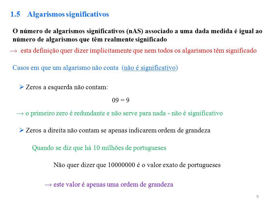 1.5 Algarismos significativos