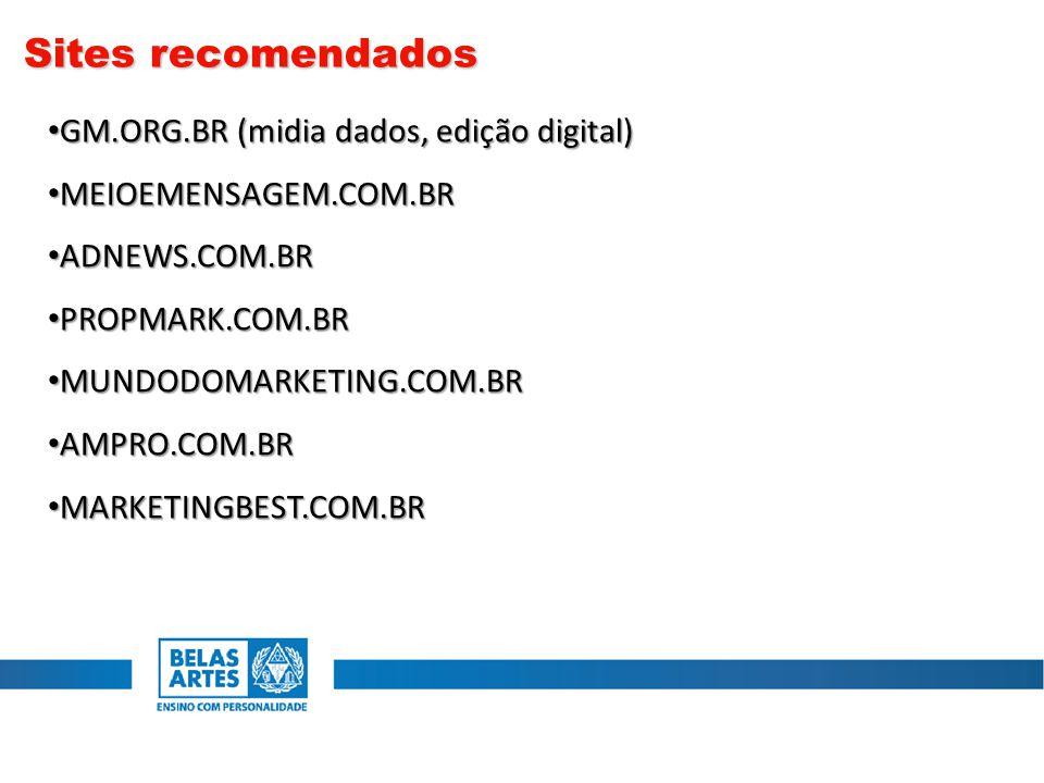 Sites recomendados GM.ORG.BR (midia dados, edição digital)