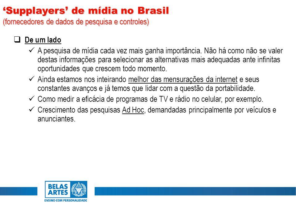 'Supplayers' de mídia no Brasil