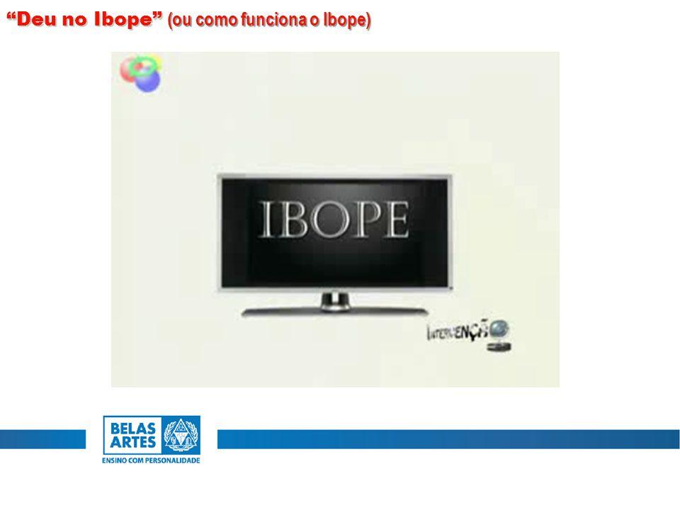 Deu no Ibope (ou como funciona o Ibope)