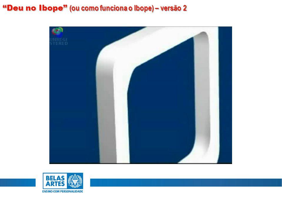 Deu no Ibope (ou como funciona o Ibope) – versão 2