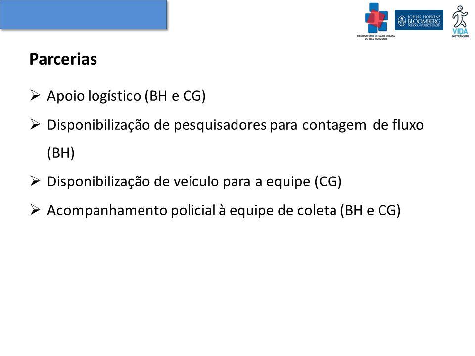 Parcerias Apoio logístico (BH e CG)
