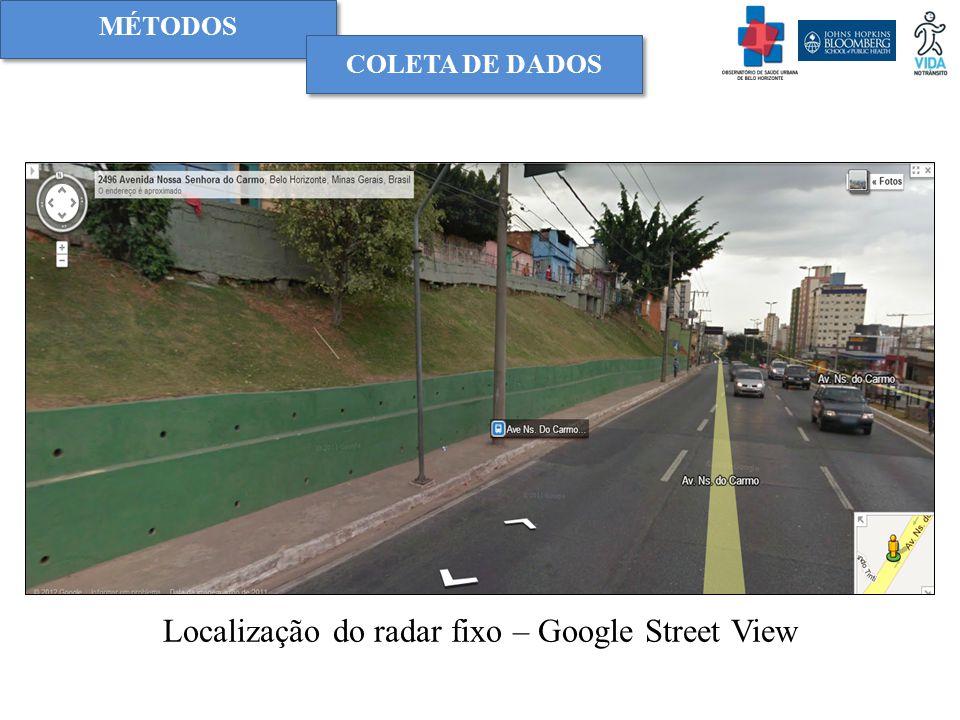 Localização do radar fixo – Google Street View