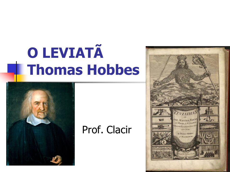 O LEVIATÃ Thomas Hobbes