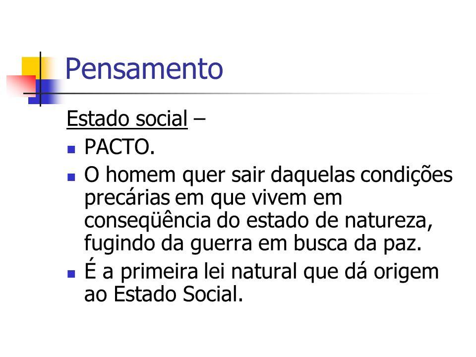 Pensamento Estado social – PACTO.