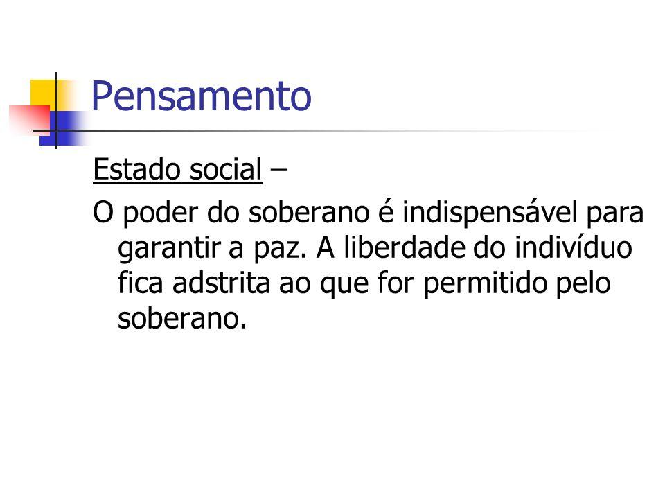 Pensamento Estado social –