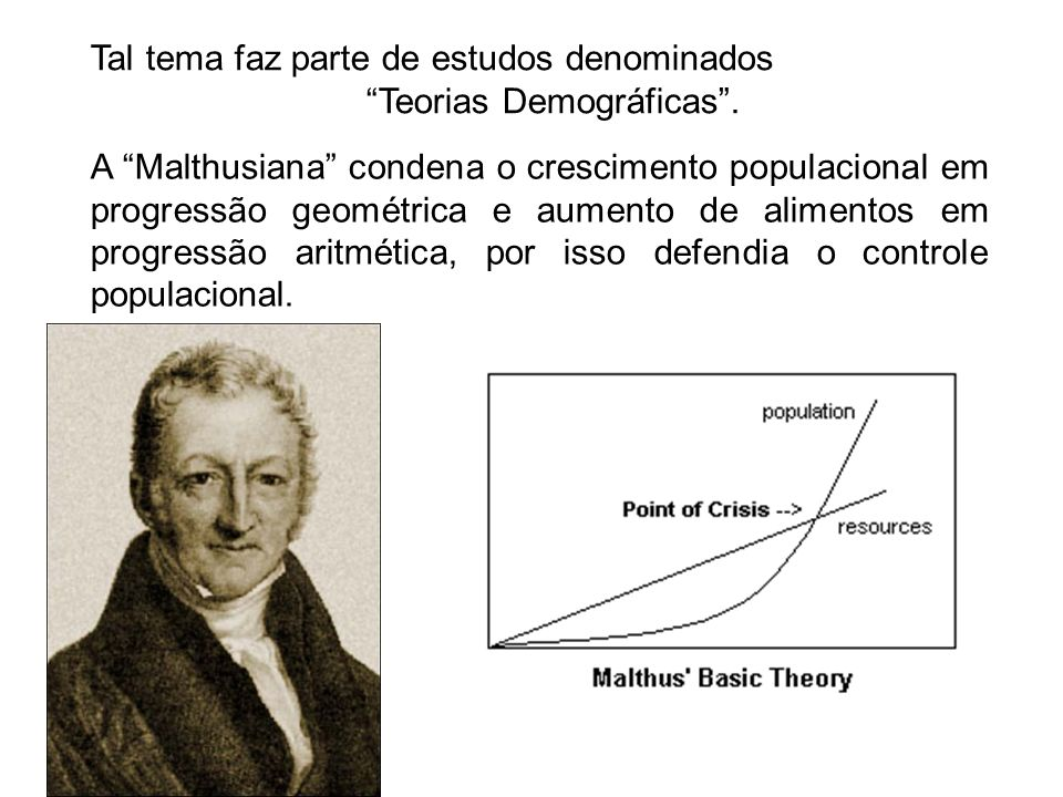 Teorias Demográficas .