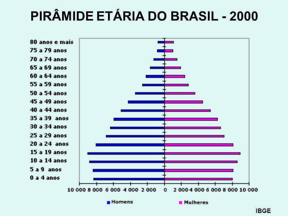 PIRÂMIDE ETÁRIA DO BRASIL - 2000
