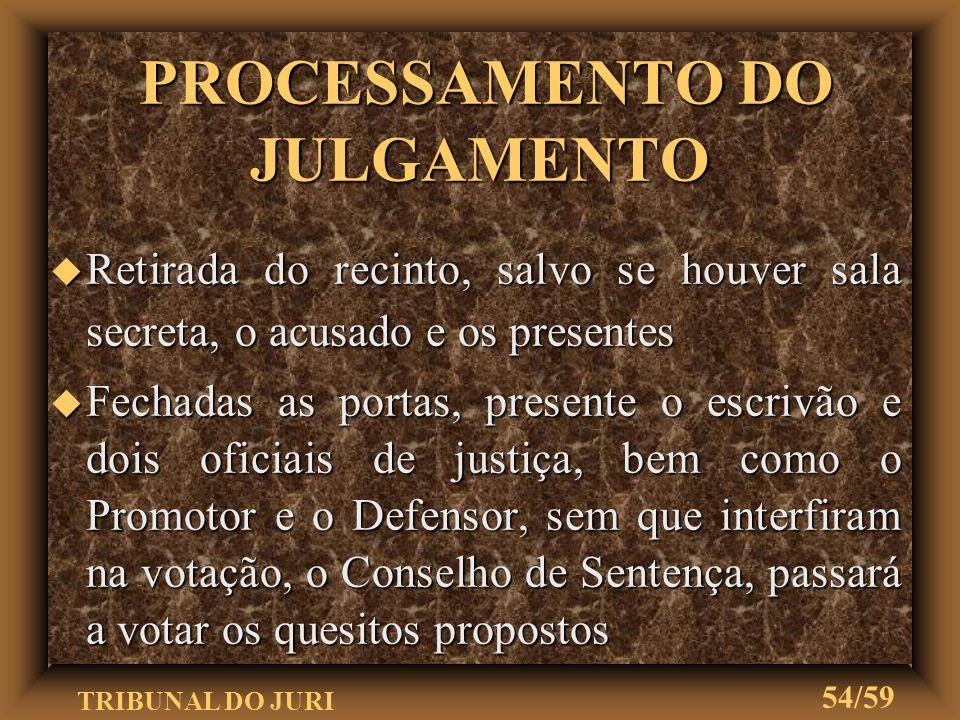 PROCESSAMENTO DO JULGAMENTO