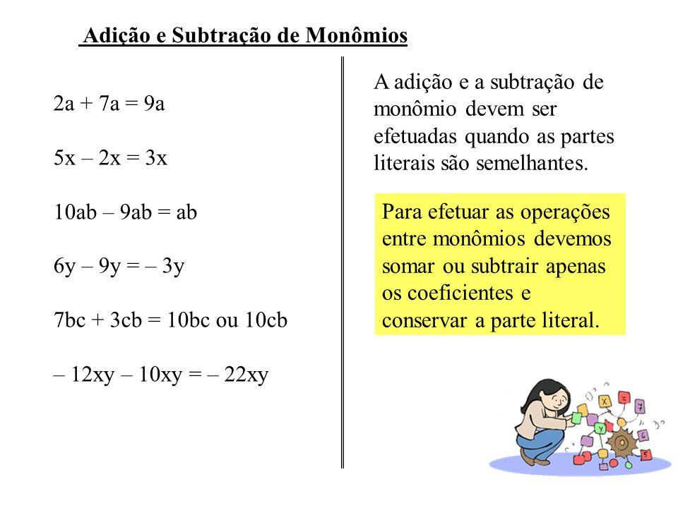 Adição e Subtração de Monômios