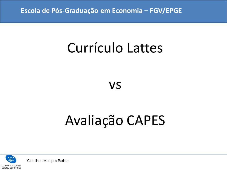 Currículo Lattes vs Avaliação CAPES