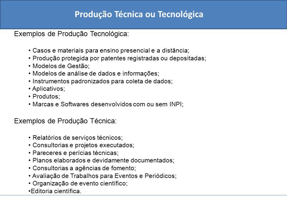 Produção Técnica ou Tecnológica