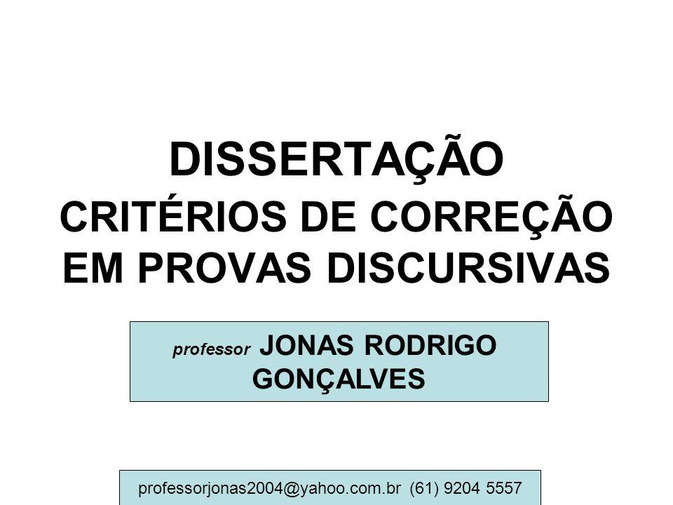 DISSERTAÇÃO CRITÉRIOS DE CORREÇÃO EM PROVAS DISCURSIVAS