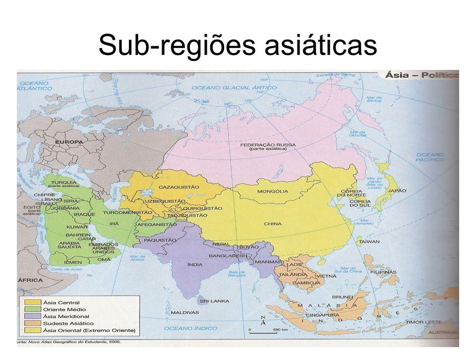 Sub-regiões asiáticas