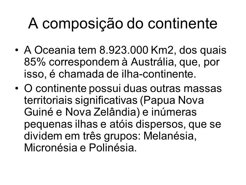 A composição do continente