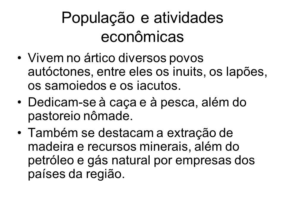 População e atividades econômicas
