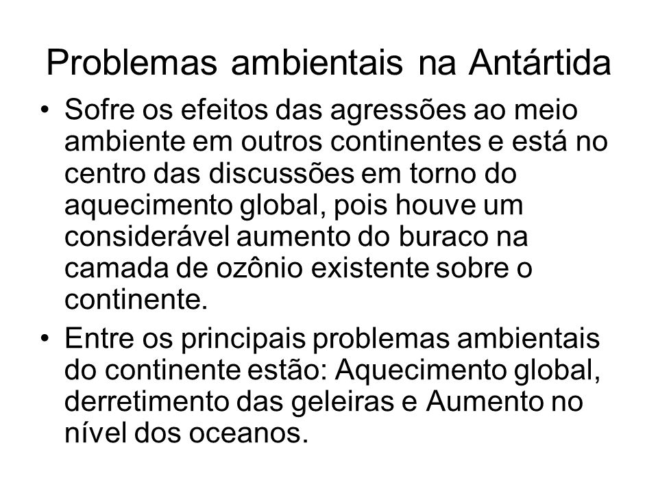 Problemas ambientais na Antártida