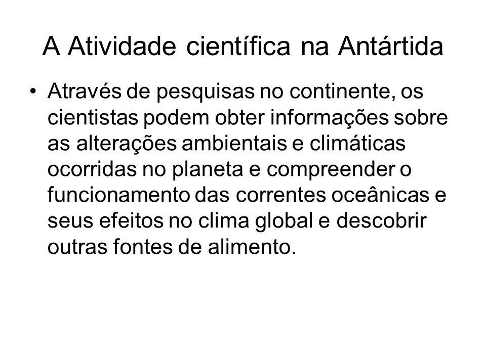 A Atividade científica na Antártida