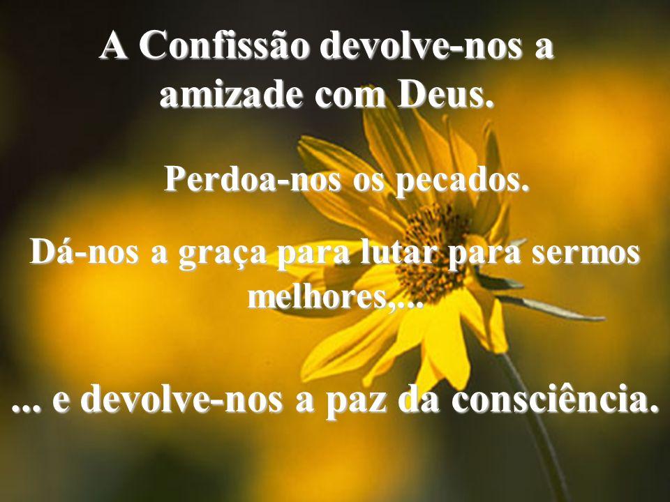 A Confissão devolve-nos a amizade com Deus.