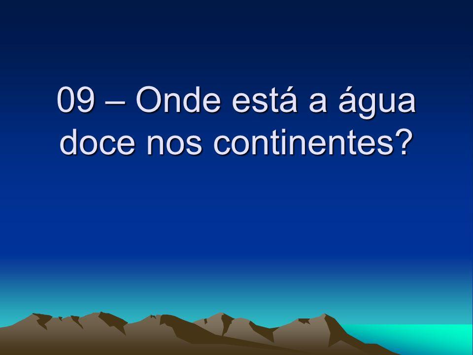 09 – Onde está a água doce nos continentes