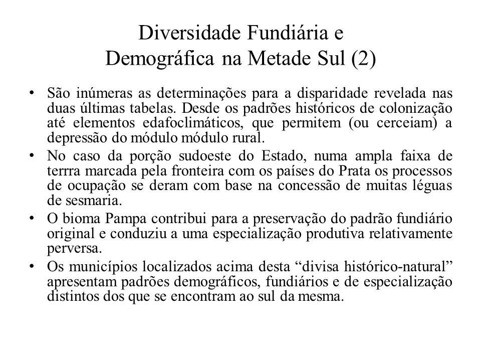 Diversidade Fundiária e Demográfica na Metade Sul (2)