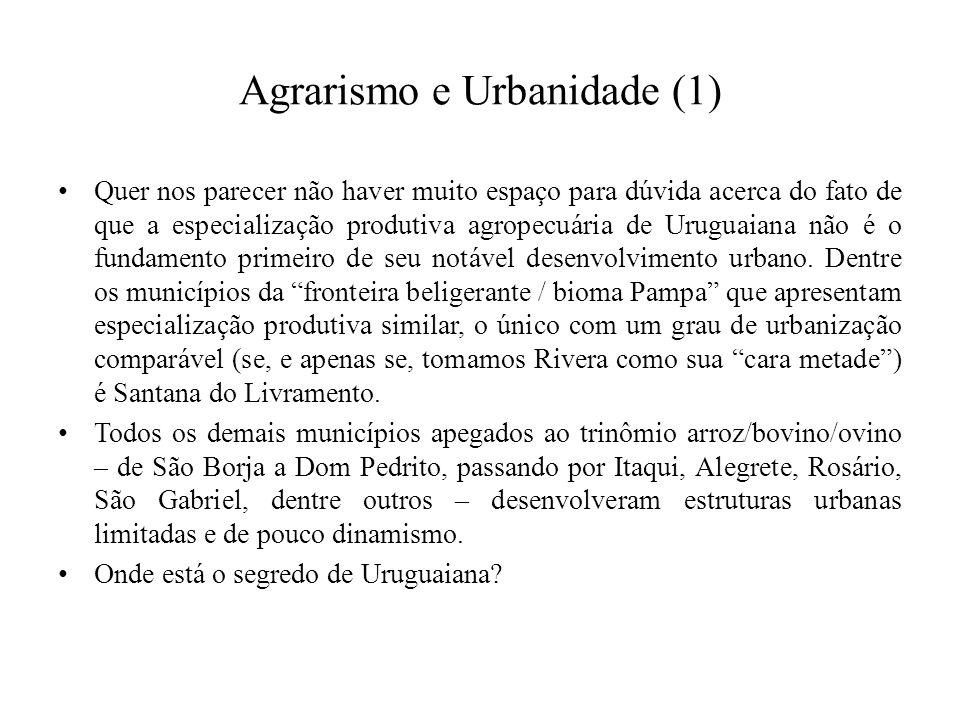 Agrarismo e Urbanidade (1)
