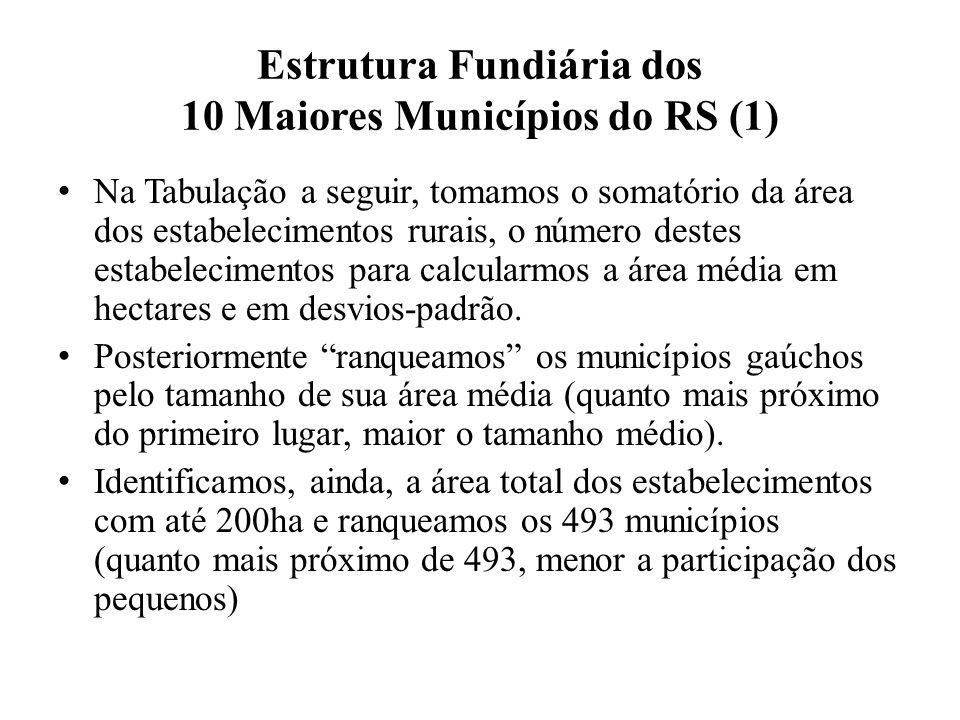 Estrutura Fundiária dos 10 Maiores Municípios do RS (1)