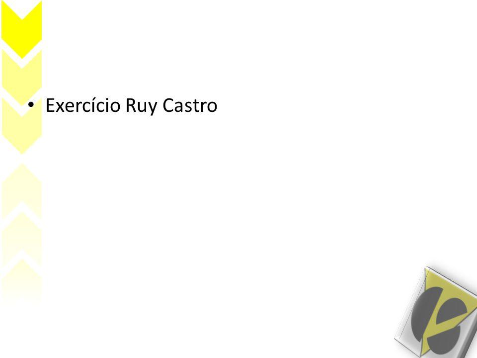 Exercício Ruy Castro
