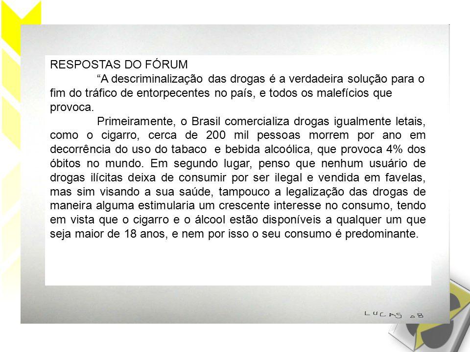 RESPOSTAS DO FÓRUM
