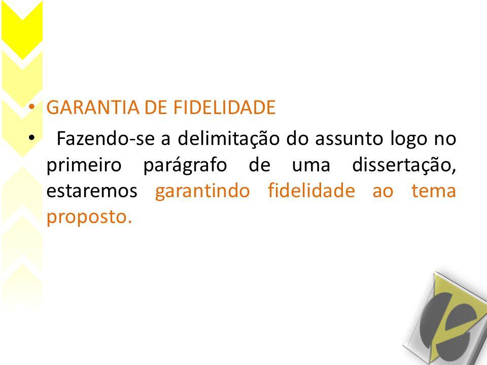 GARANTIA DE FIDELIDADE