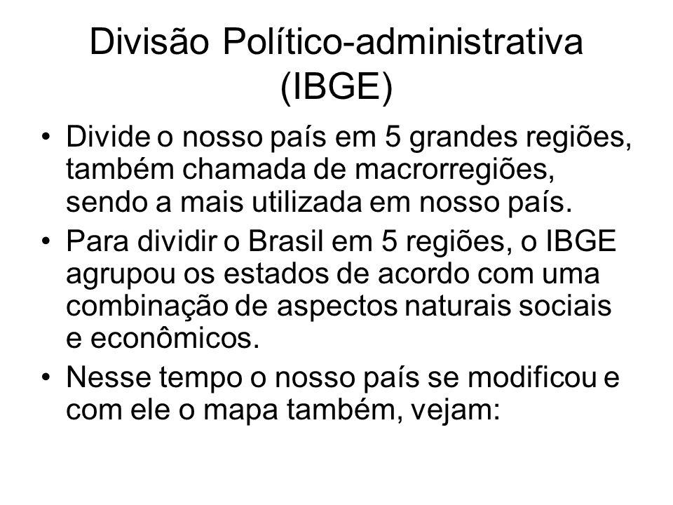Divisão Político-administrativa (IBGE)