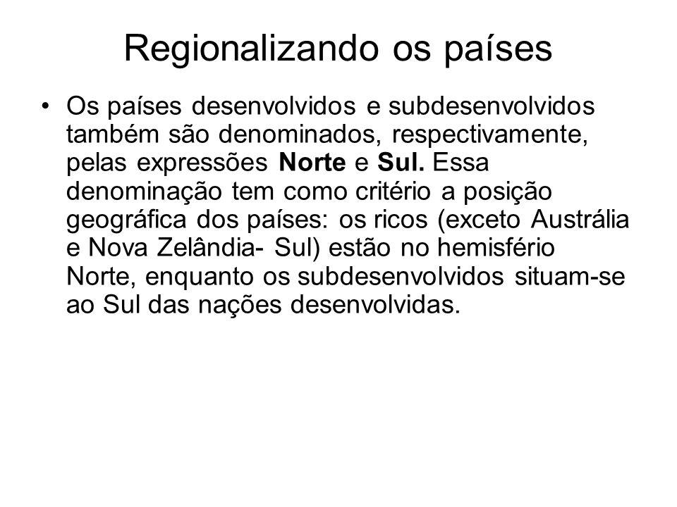 Regionalizando os países