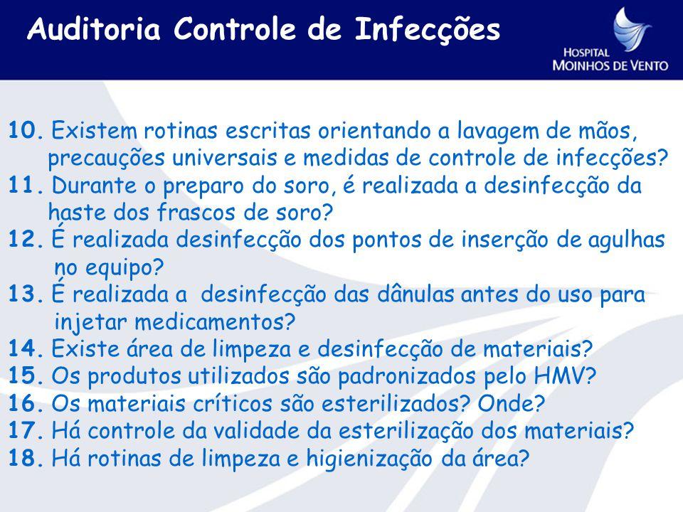 Auditoria Controle de Infecções