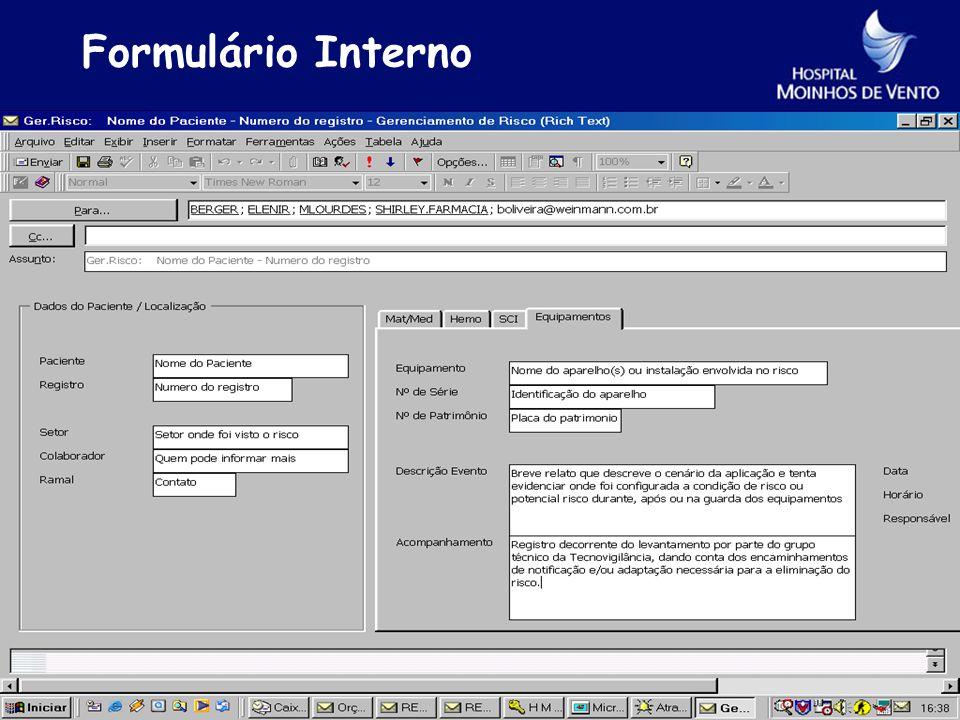 Formulário Interno