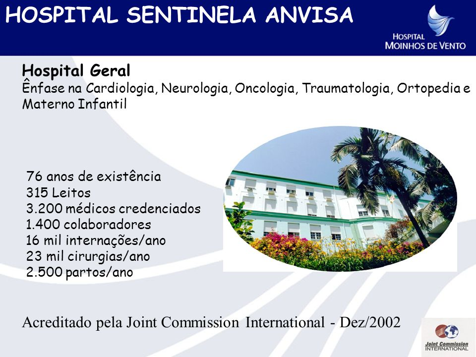 HOSPITAL SENTINELA ANVISA