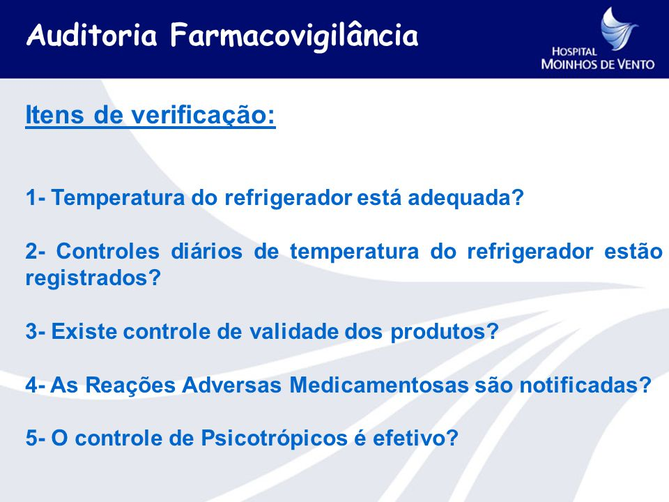 Auditoria Farmacovigilância