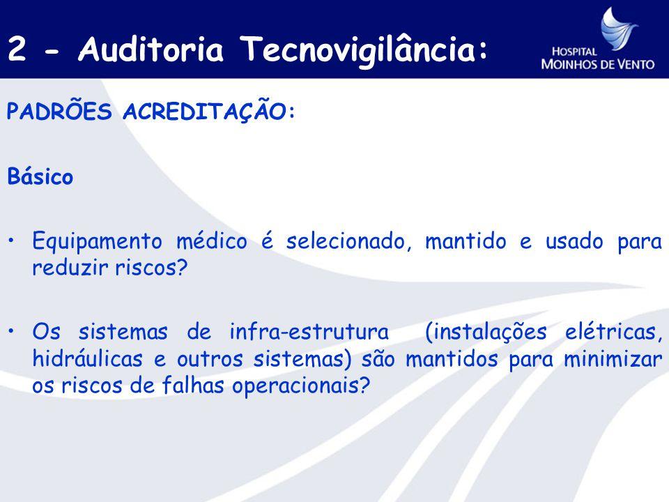 2 - Auditoria Tecnovigilância: