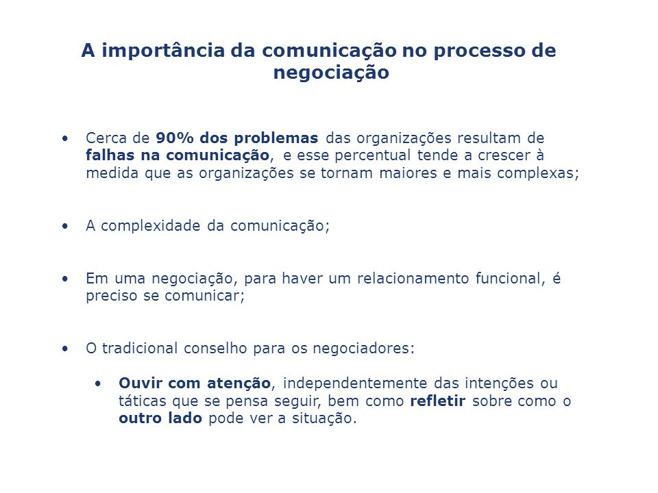 A importância da comunicação no processo de negociação