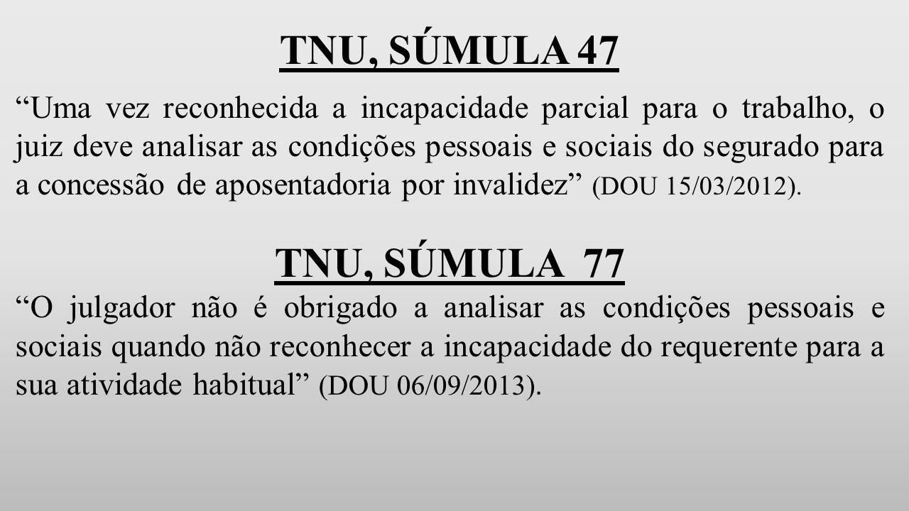 TNU, SÚMULA 47