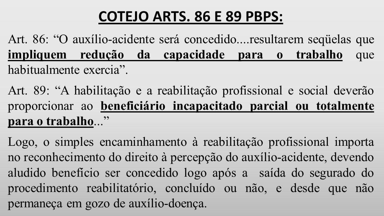 COTEJO ARTS. 86 E 89 PBPS:
