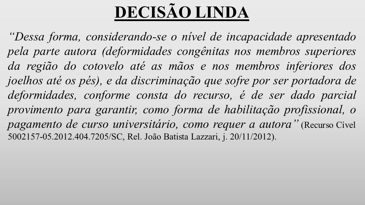 DECISÃO LINDA