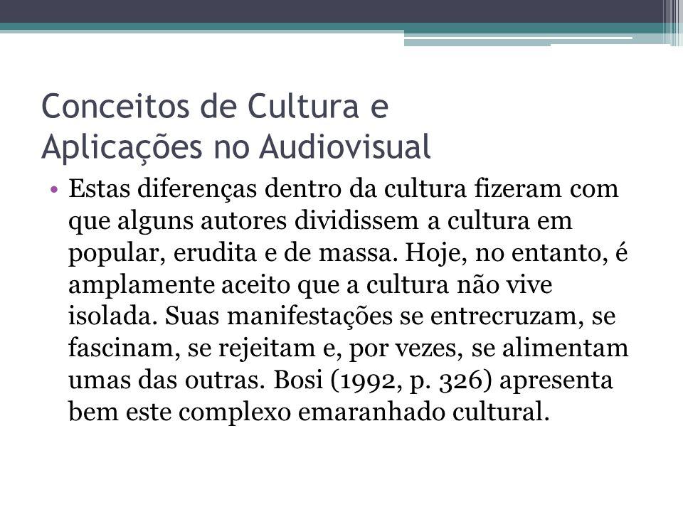 Conceitos de Cultura e Aplicações no Audiovisual