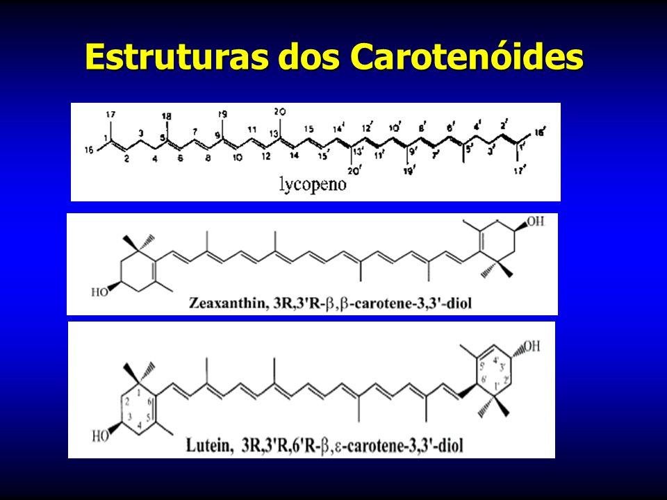 Estruturas dos Carotenóides
