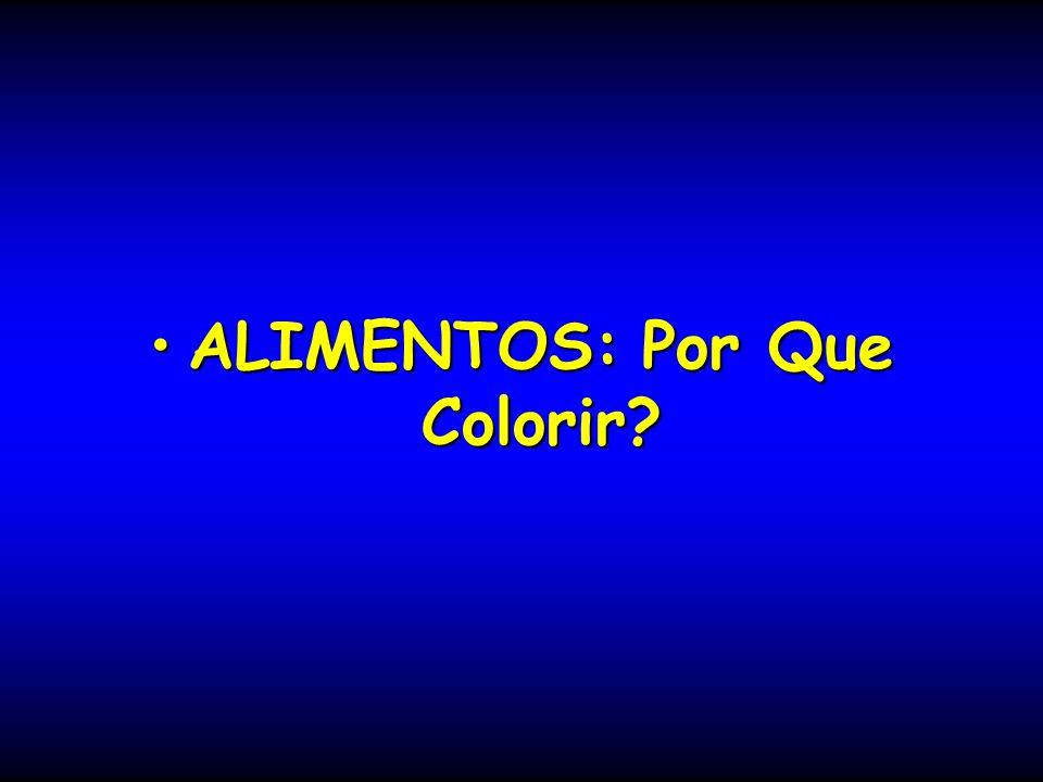 ALIMENTOS: Por Que Colorir