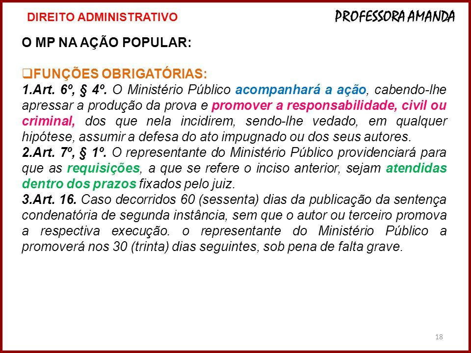 FUNÇÕES OBRIGATÓRIAS: