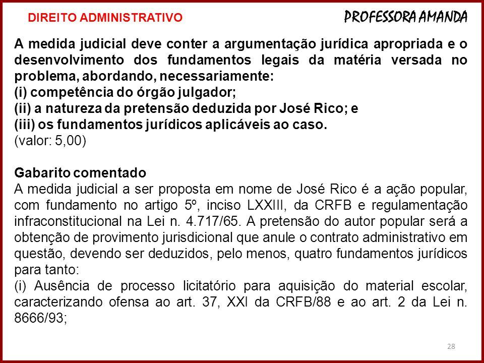 (i) competência do órgão julgador;